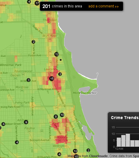 Uptown Update Trulia Introduces Crime Index Map