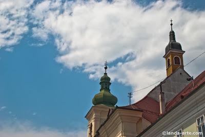 Piața Mare Sibiu bajo el cielo