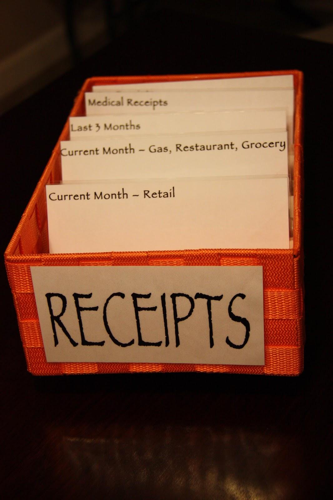 receipt organization the lovebugs blog