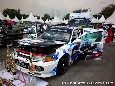Modified Wira Evo 3 Autoshow car
