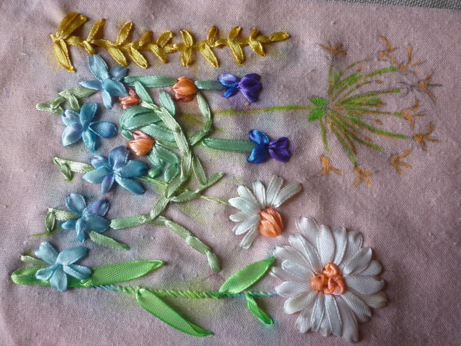 Вышивка лентами и другие виды рукоделия. Мои МК