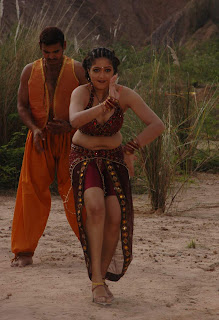 Tamil Actress Meghna Hot Blouse Stills From Movie Krishna Leelai