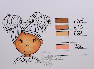 Heather Huggins - The Paper Nest Dolls - Copic Skin Tone