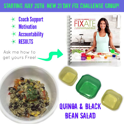 21 day fix, extreme, fixate cookbook, recipes, challenge group, nutrition, autumn calabrese, family recipes, clean eating, paleo, gluten-free, vegan, vegetarian, quinoa, black bean, salad