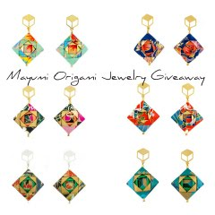 Mayumi Origami Mosaic Earrings of Choice