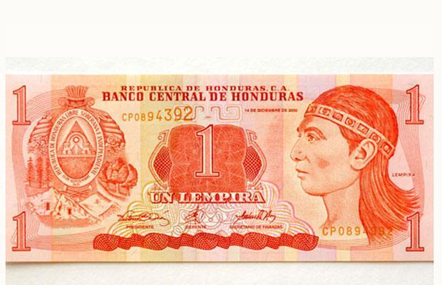 one lempira note from Honduras