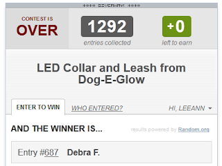 Dog-E-Glow Giveaway Winner