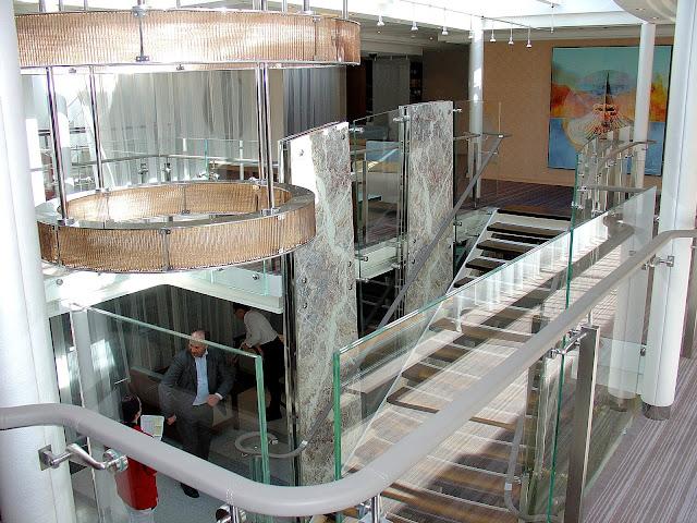 Viking River Cruises' 'Viking Odin' lobby.