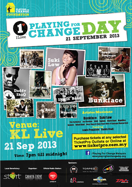 21 Sep 2013 Sat 1Love Playing for Change Day Malaysia