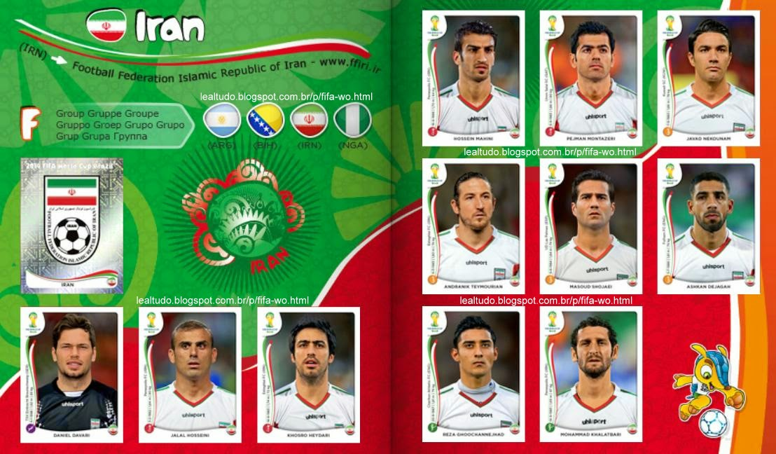 Album IRAN Fifa World Cup BRAZIL 2014 LIVE COPA DO MUNDO Sticker Figurinha Download Lealtudo