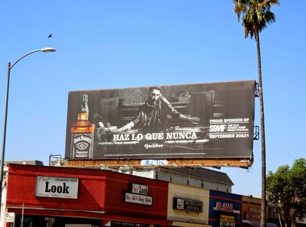 Jack Daniels Live DJ billboard