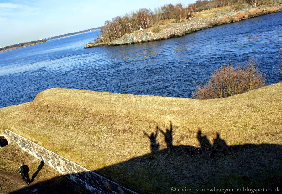 Having fun at Suomenlinna Sea Fortress, Helsinki