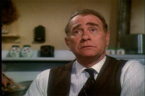 Darren McGavin looking frustrated in A Christmas Story 1983 movieloversreviews.blogspot.com