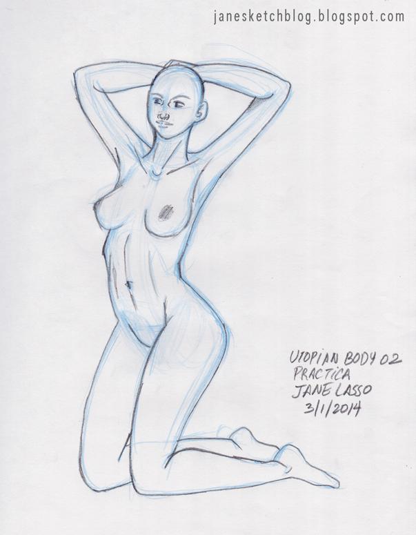 Dibujo del cuerpo femenino