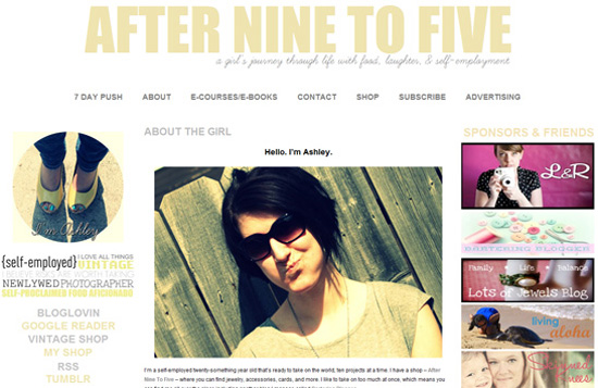 Guest Blogger: Ashley of AfterNineToFive