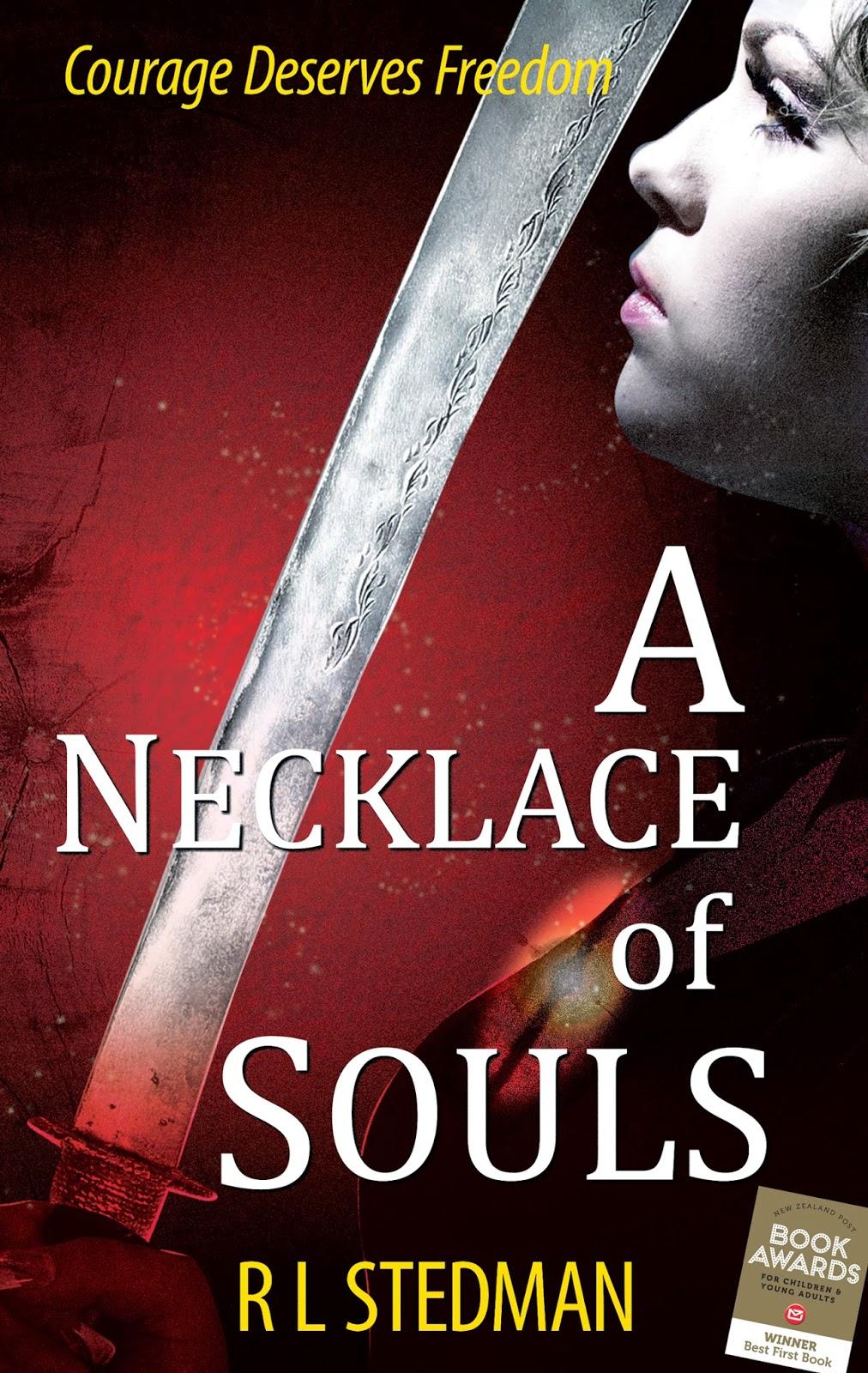 """custom book cover design """"A necklace of Souls"""" author RL Stedman, cover artist: Kura Carpenter"""