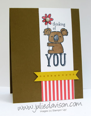 Kind Koala Card for Pocket Sketch Challenge #3 PSC03 www.juliedavison.com #stampinup