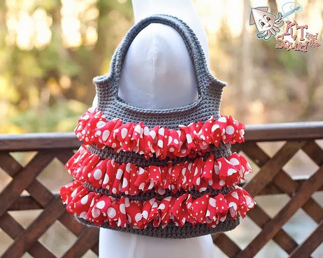 free crochet pattern ruffle purse