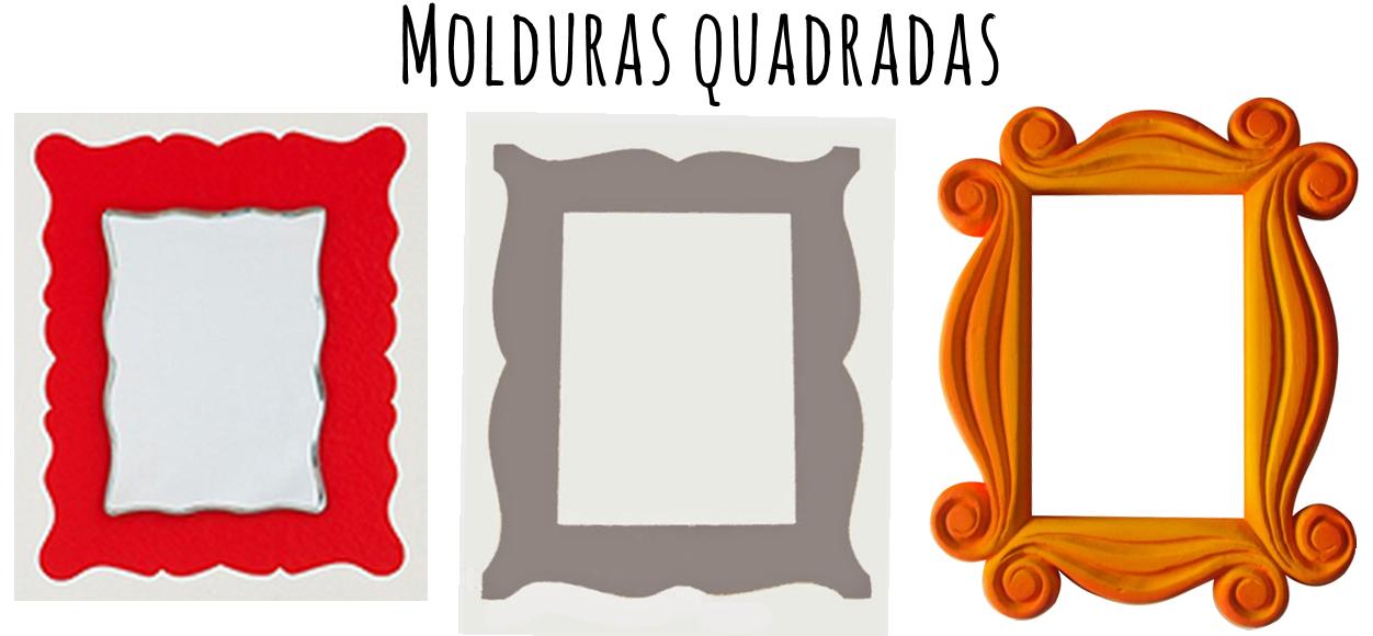 Moldes de molduras quadradas - faça você mesma molduras em E.V.A