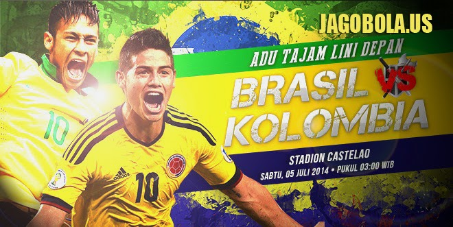 Preview Kolombia vs Brazil 05-07-2014 Quater Final Piala Dunia