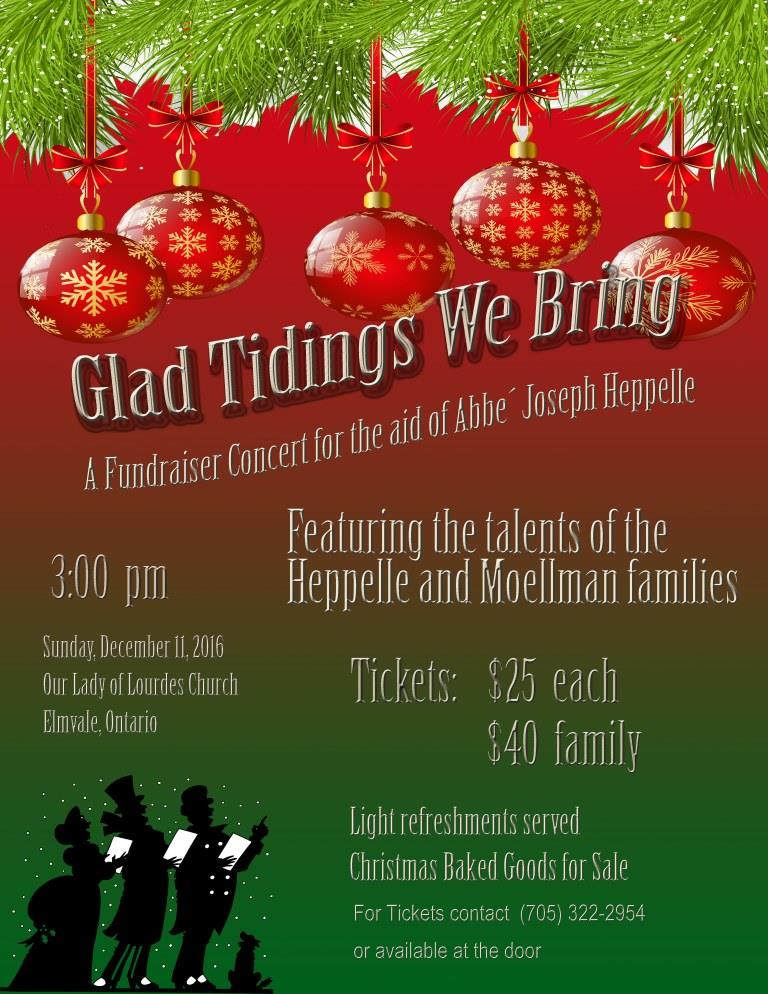 Fundraising Concert for Abbe Heppelle