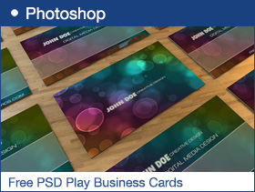 Free PSD Play Business Cards