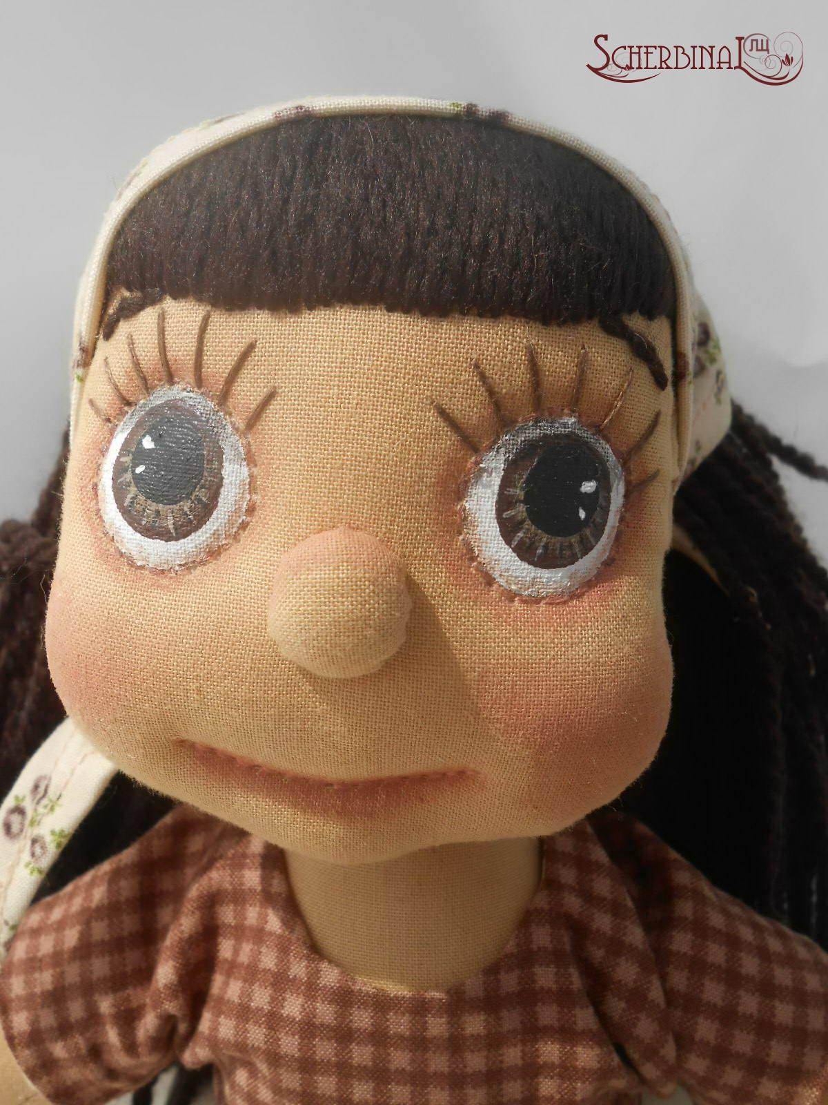 мастер-клас по росписи лица игровой текстильной куклы-карамельки Людмилы Щербина