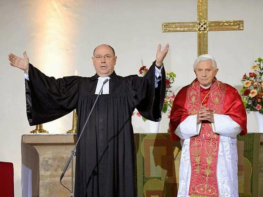 Viernes, 23-IX-2011; Capilla del Monasterio luterano de San Agustín en Erfurt; Pastor Nikolaus Schneider; Presidente del Consejo de la Iglesia Luterana de Alemania