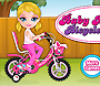 Baby Barbie em bicicleta