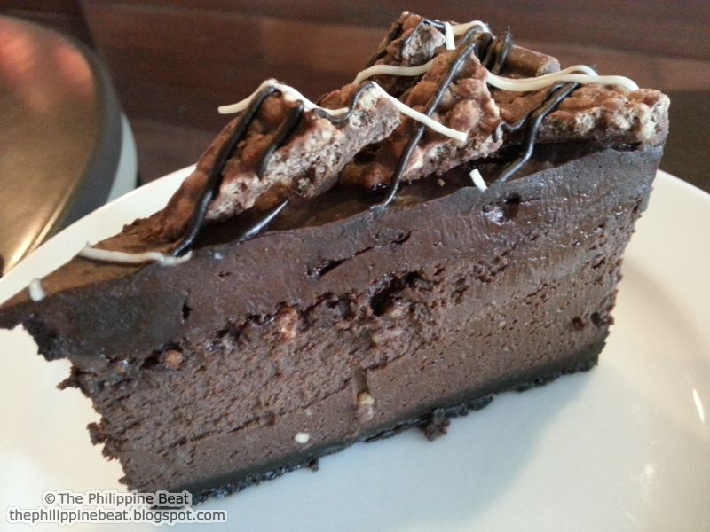 Chocolate Truffle Cheesecake with Nestle Crunch (slice-PhP 140, whole ...