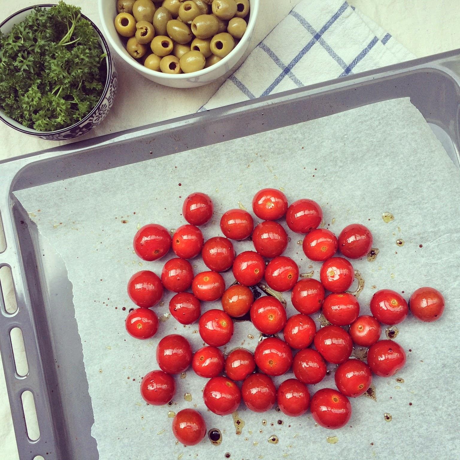 tapenade olives vertes tomates cerise