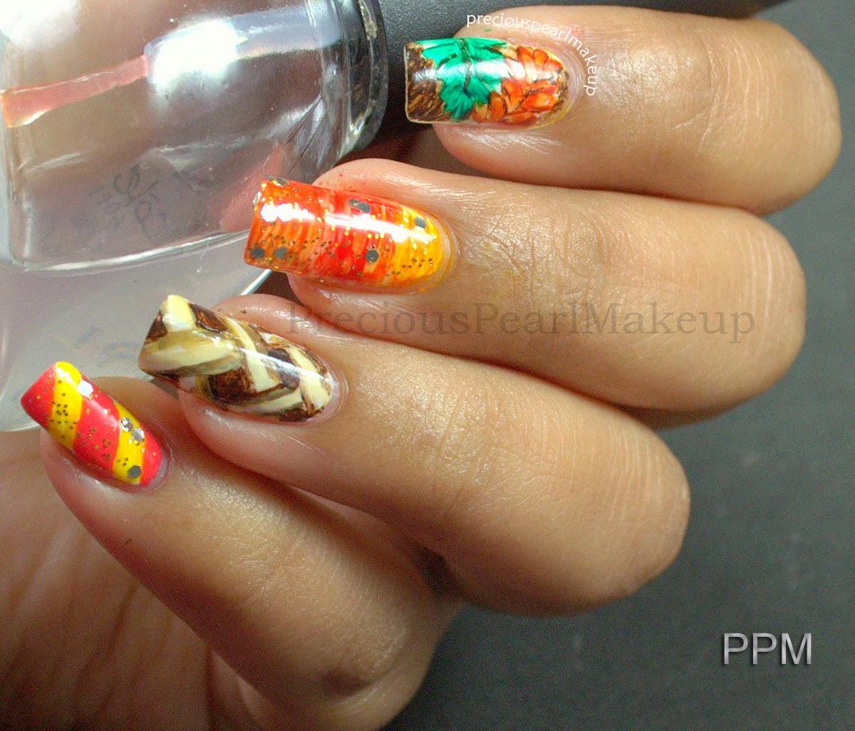 Thanksgiving Nail Art Tutorials: Preciouspearlmakeup: Thanksgiving Nails