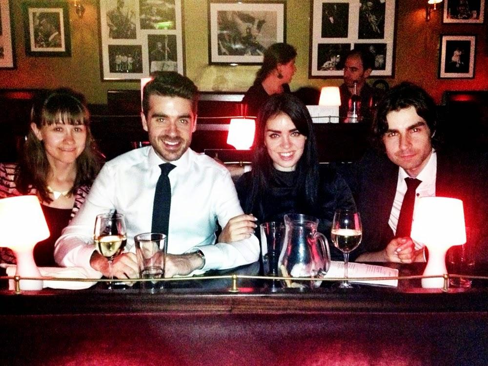 Emma Louise Layla birthday dinner at Ronnie Scott's, Soho, London