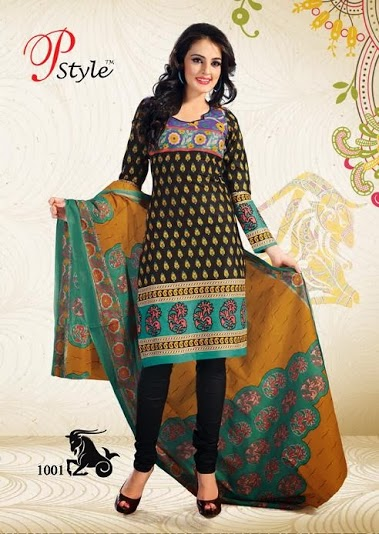 Buy Ladies Unstitched Salwar Suits – Cotton Printed Dress Material