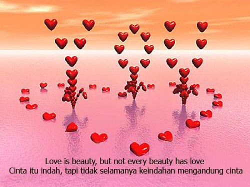 Kata Mutiara Cinta Romantis | Inggris - Indonesia