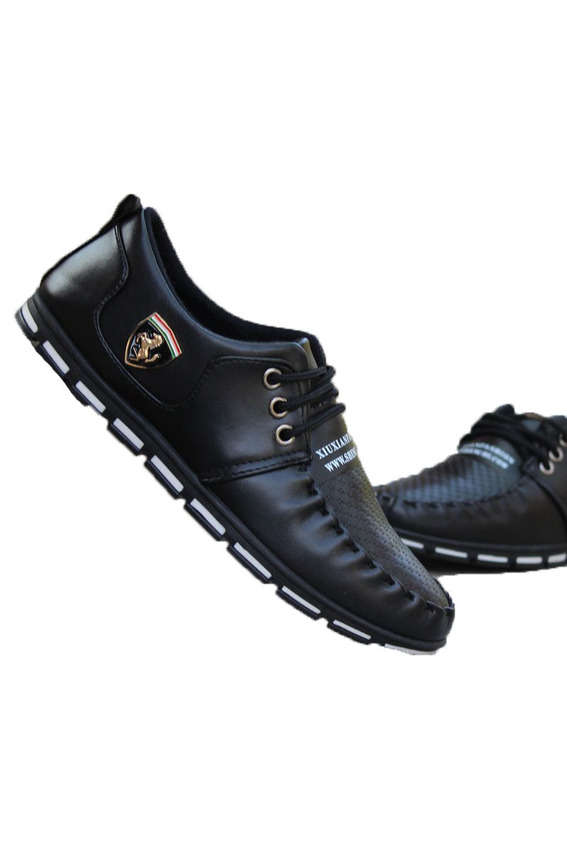 sepatu hitam, black shoes, lazada
