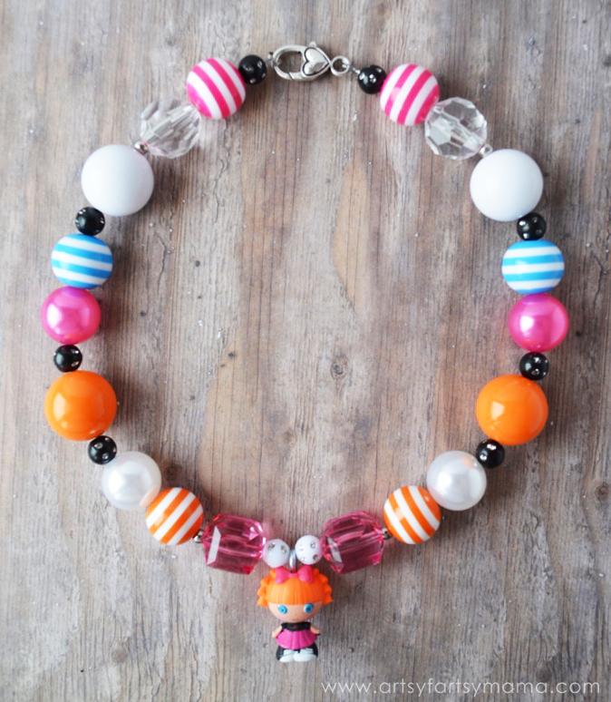 DIY Lalaloopsy Jewelry at artsyfartsymama.com