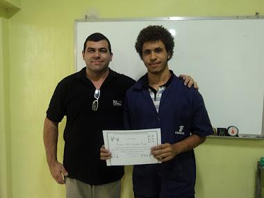 Pedro, aluno do Cefet aproveitou suas férias e ampliou seus conhecimentos com nosso treinamento