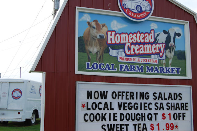 Claiborne House Bed and Breakfast recommends Homestead Creamery