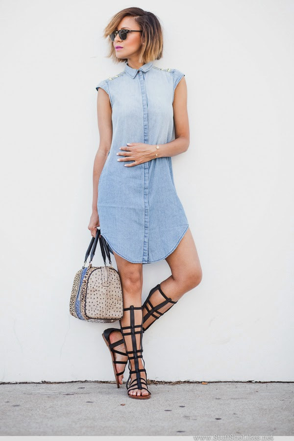 denim dress, gladiator sandals, style video, Top blogger, top 10 fashion bloggers, Fashion Blogger, best fashion bloggers, style blog