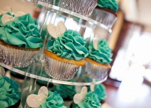 Cupcakes de Boda Color Turquesa, parte 2