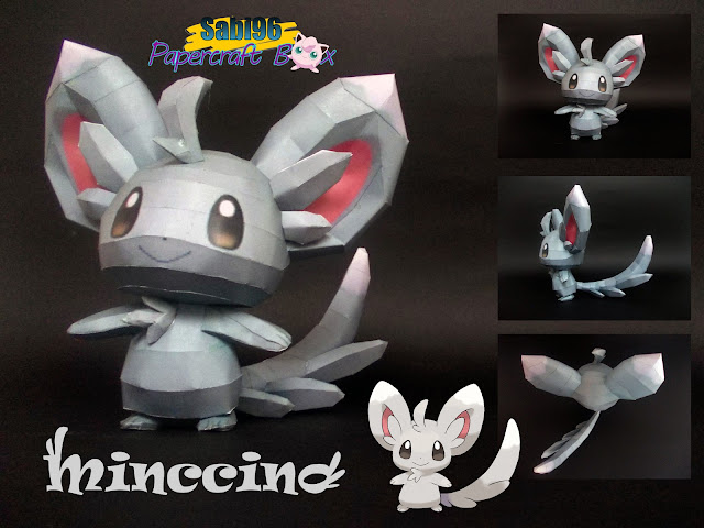 Pokemon Minccino Papercraft