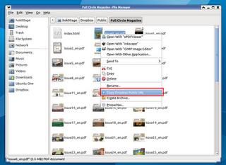 Menambahkan 'Copy Public Link' Dropbox di Thunar