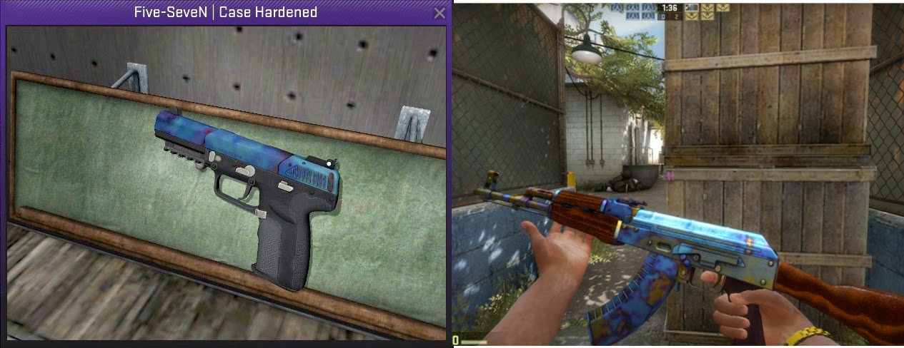 Case Hardened Blue Top These Blue Case Hardened Skins