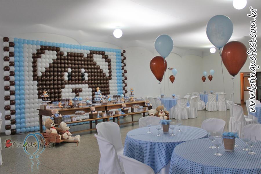 decoracao festa urso azul e marrom : decoracao festa urso azul e marrom:Por força maior de copiação!!! Não vou postar fotos dos nossos