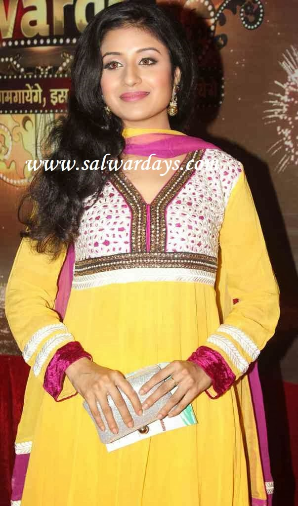 Indian Salwars and Indian Fashion: yellow full sleeves ...