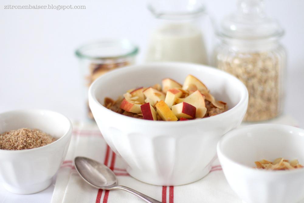 Rezept Porridge Haferbrei mit Apfel und Zimt
