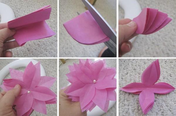 Steps Paper Tissue Flower