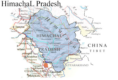 Himachal province map