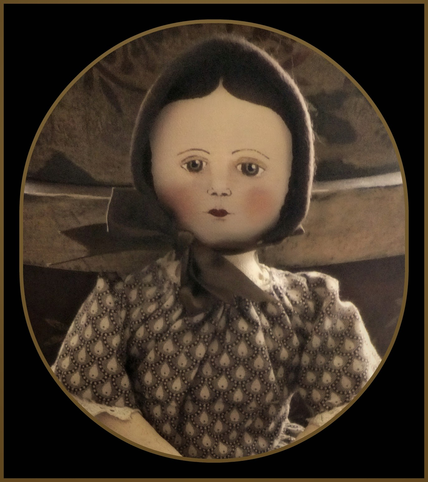 Hand Painted Cloth Doll